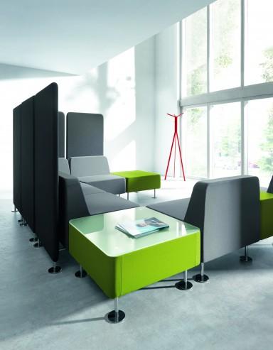 System siedzisk recepcyjnych i ścianek tapicerowanych