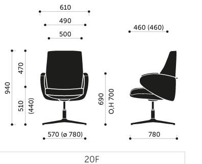Wymiary foteli FORMAT