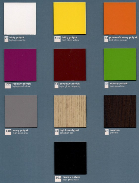 Wzornik kolorów MDD