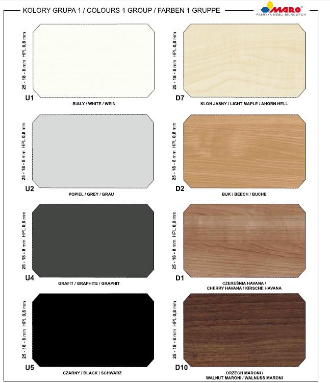 Wzornik kolorów płyt Maro