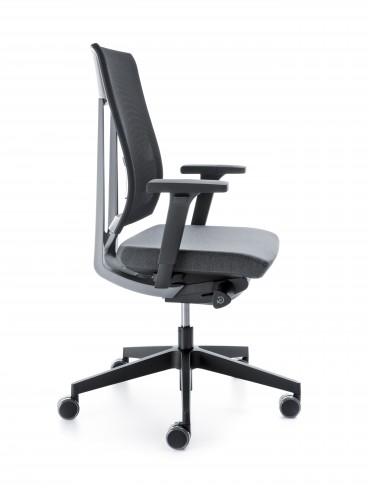 Krzesło obrotowe Xenon NET 100STL czarny P59PU bok
