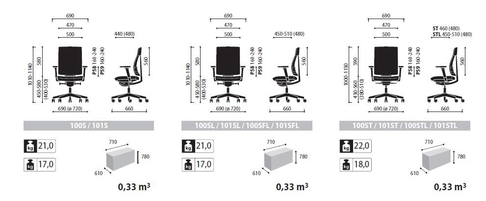 Xenon Net nowoczesne krzesło biurowe wymiary