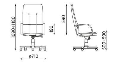 Wymiary fotela Zenit