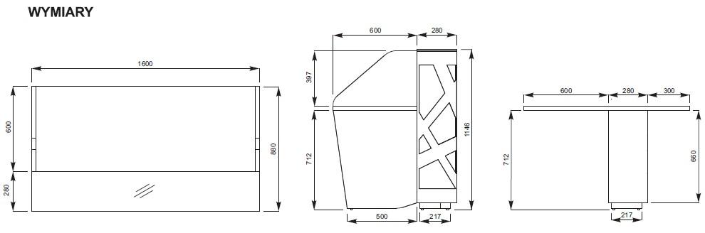 Zig-Zag lady recepcyjne rysunek techniczny (4)