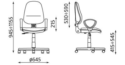 Wymiary krzesła Perfect
