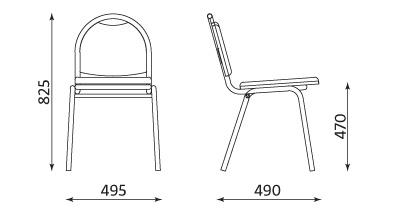 Wymiary krzesła Arioso