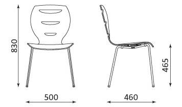 Alani krzesło do kawiarni wymiary