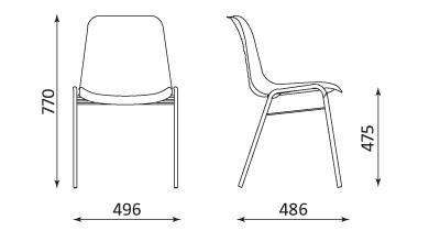 Wymiary krzesła Beta