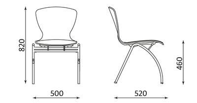 Wymiary krzesła BINGO wood alu