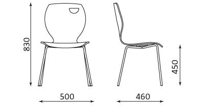 Wymiary krzesła Cappucino