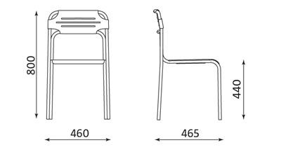 Wymiary krzesła Cortessa