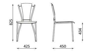 Wymiary krzesła