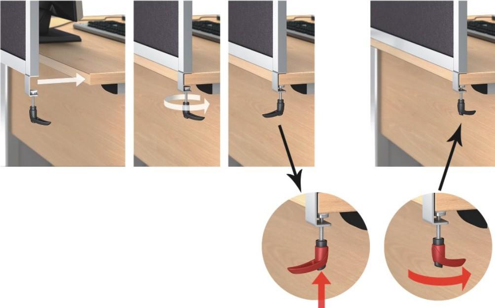 Detal ścianki Opentech - zdjęcie pokazujące sposób montażu