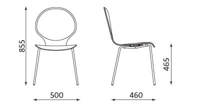 Wymiary krzesła Espresso