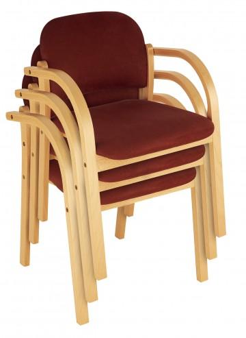 Krzesło konferencyjne na ramie drewnianej Elva sztaplowanie