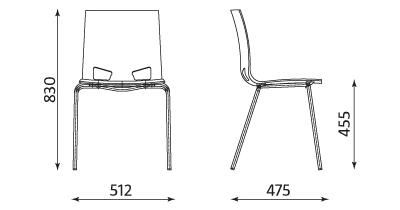 Wymiary Krzesła Fondo