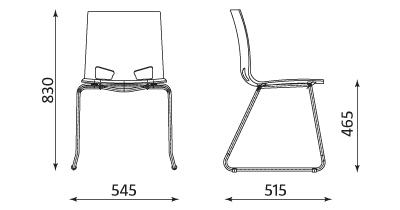 Wymiary krzesła Fondo cfs