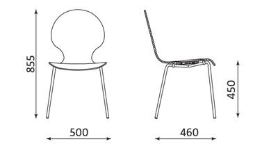 Wymiary krzesła Frappe