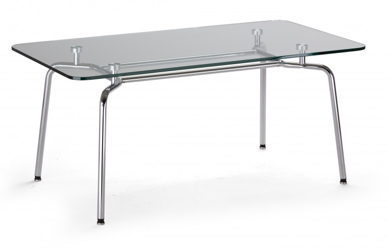 Stolik z blatem szklanym Hello table duo GL