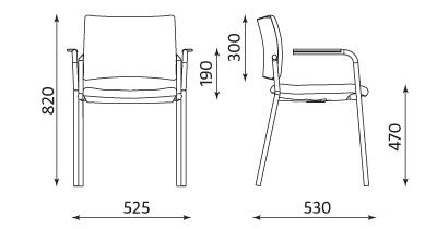 Wymiary fotela Intrata Visitor