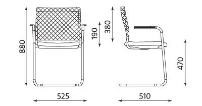 Wymiary fotela Intrata