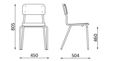 Wymiary krzesła Irys