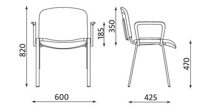 Wymiary krzesła ISO