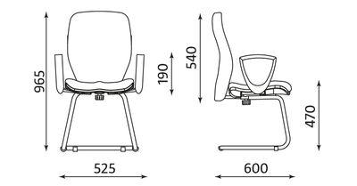 Wymiary krzesła Jump