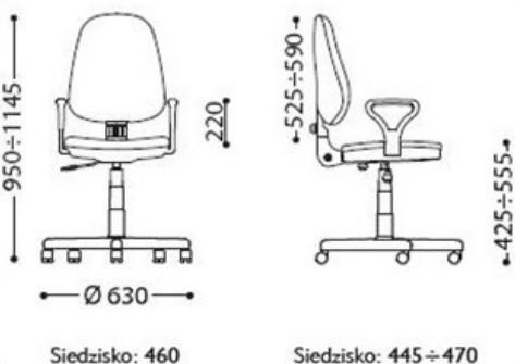 Krzesło bravo profil gts wymiary