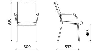 Wymiary krzesła Loco II