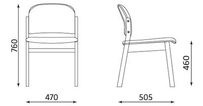 Wymiary krzesła Malva