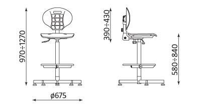 Krzesło Negro wymiary