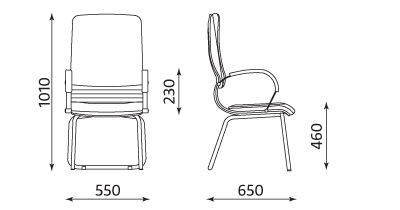 LINEA extra Wymiary fotela