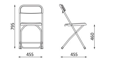 Wymiary krzesła Polyfold