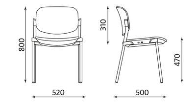 Wymiary krzesła Step