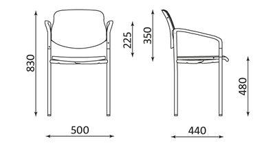 Wymiary krzesła Styl Arm