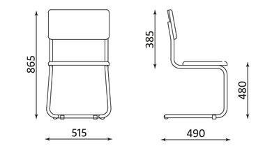 Wymiary krzesła Sylwia S