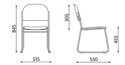 Wymiary krzesła Vesta
