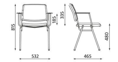 Wymiary krzesła V-sit