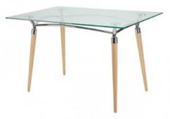 Algeo duo table stół z blatem szklanym 120x80 cm