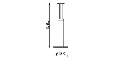 Wymiary stolika Bistro table 1100