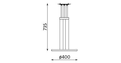 Wymiary stolika Bistro table alu