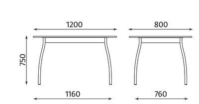 Wymiary stołu