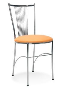 Fosca chrom krzesło do kawiarni i jadalni Nowy Styl