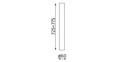 Wymiary stolika Kaja fi60