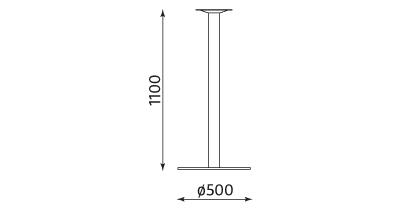 Wymiary stolika Lara Inox 1100