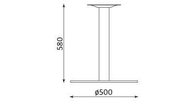Wymiary stolika Lara Inox 580