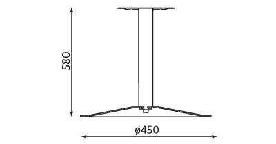Wymiary stolika Lena 580