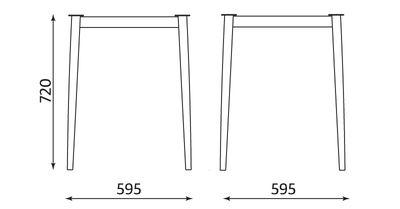 Wymiary stolika Melba Table