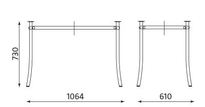 Wymiary stolika Molino Duo alu